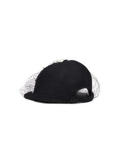 Benoît Missolin 'Bee' embellished veil wool baseball cap