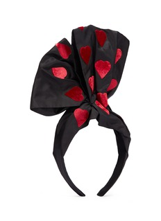 Benoît Missolin 'Bette' velvet heart appliqué silk head band