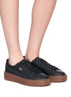 Puma 'Basket Platform Euphoria' leather sneakers