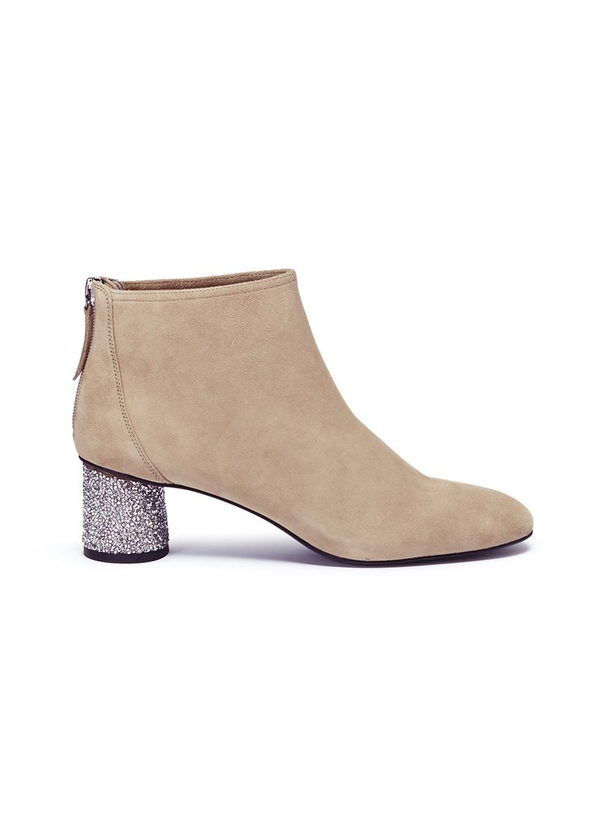 Gale strass heel suede boots by Pedder Red
