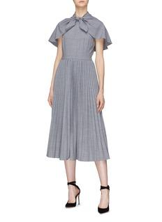 Co Tie cape yoke pleated dress
