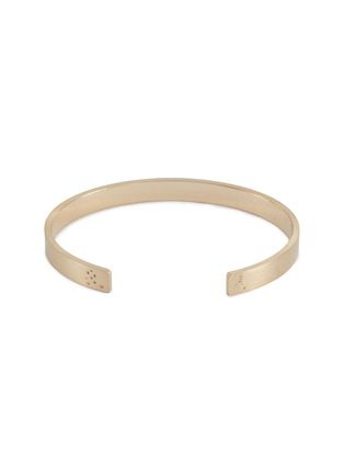 Detail View - Click To Enlarge - Le Gramme - 'Le 21 Grammes' brushed 18k yellow gold cuff