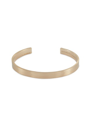 Main View - Click To Enlarge - Le Gramme - 'Le 21 Grammes' brushed 18k yellow gold cuff