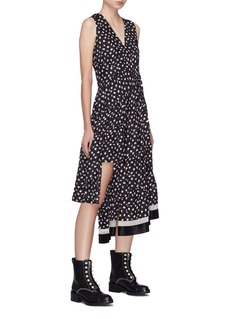 3.1 Phillip Lim Floral print ruched tiered asymmetric silk dress