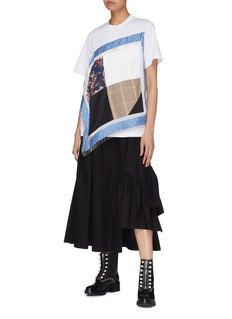 3.1 Phillip Lim Pleated staggered hem utility skirt