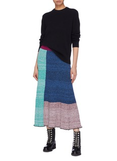3.1 Phillip Lim Colourblock patchwork rib knit skirt