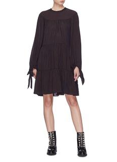 3.1 Phillip Lim Tie cuff ruched tiered dress
