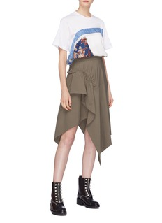 3.1 Phillip Lim Buckled ruched drape handkerchief skirt