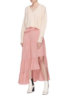 3.1 Phillip Lim Ruched tiered asymmetric skirt