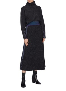 3.1 Phillip Lim x Woolmark stripe outseam bouclé knit skirt