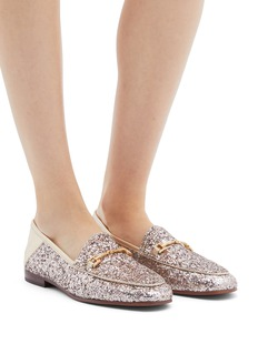 Sam Edelman 'Loraine' horsebit coarse glitter step-in loafers