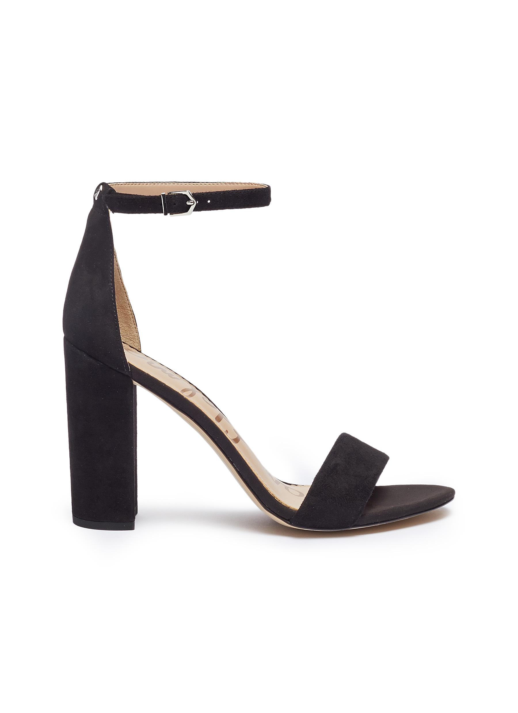 Yaro Ankle Strap Suede Sandals By Sam Edelman Shoes Online