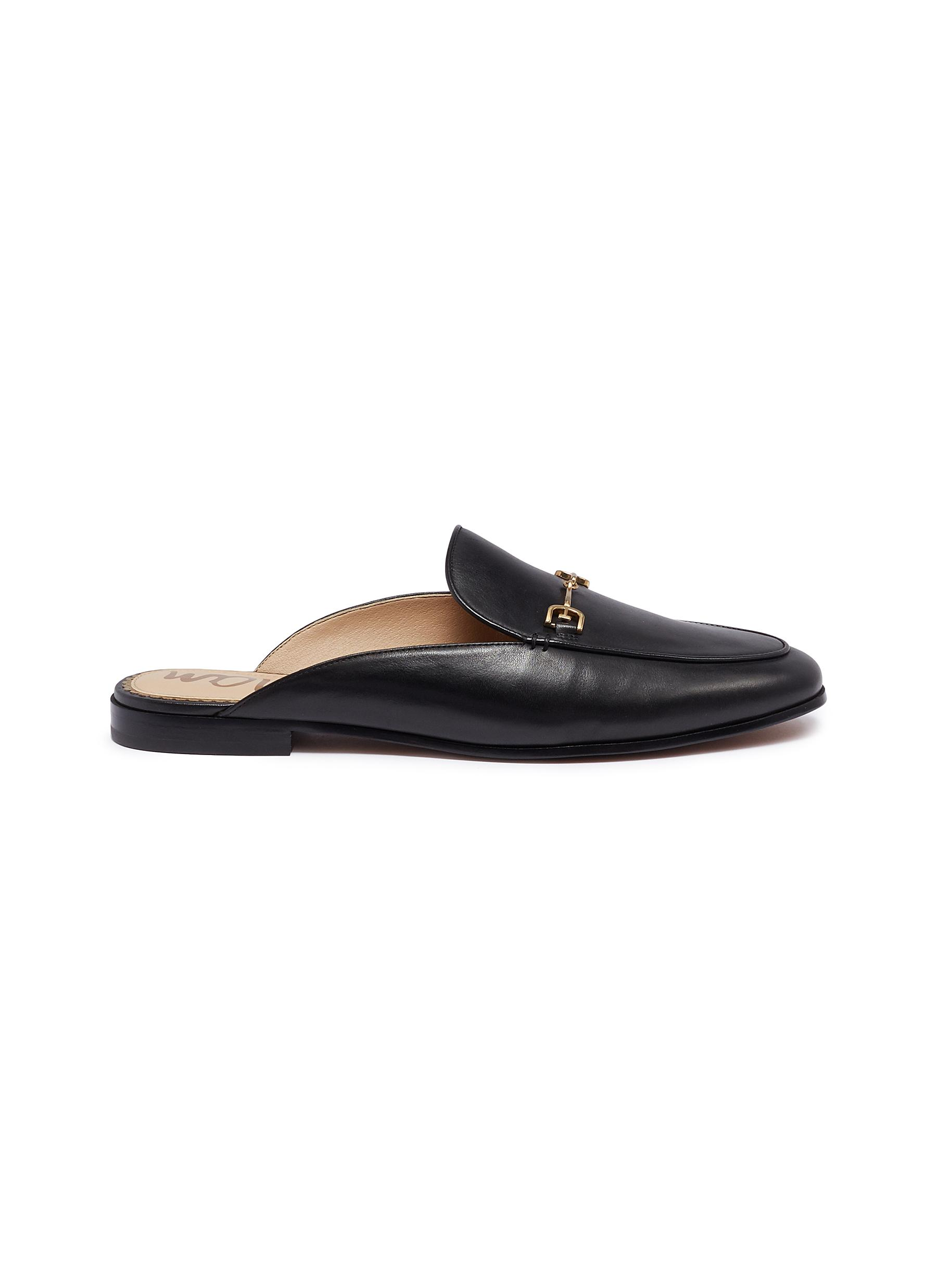 Linnie horsebit leather loafer slides by Sam Edelman