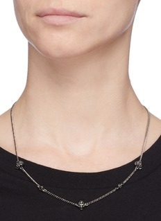 Alexander McQueen Swarovski crystal skull station necklace