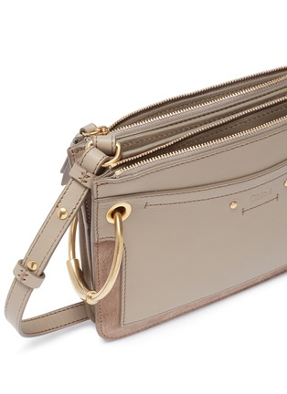 Detail View - Click To Enlarge - CHLOÉ - 'Roy' suede panel leather crossbody bag