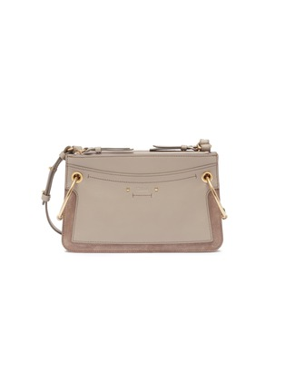 Main View - Click To Enlarge - CHLOÉ - 'Roy' suede panel leather crossbody bag