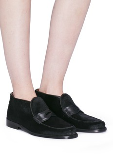 Alumnae Calfhair penny loafer booties