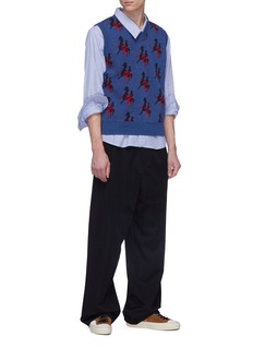 Marni Polo jacquard virgin wool sleeveless sweater