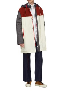 Marni Colourblock shearling panel hooded padded parka