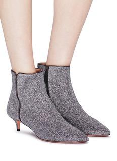 Aquazzura 'Quant 45' lurex ankle boots