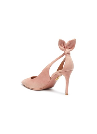 Detail View - Click To Enlarge - AQUAZZURA - 'Deneuve' bow cutout suede pumps
