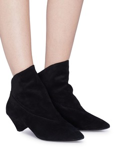 Ash 'Crazy' geometric heel suede ankle boots