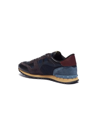 Detail View - Click To Enlarge - VALENTINO - 'Camouflage Rockrunner' patchwork sneakers