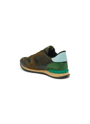 Detail View - Click To Enlarge - VALENTINO - Valentino Garavani 'Camouflage Rockrunner' patchwork sneakers