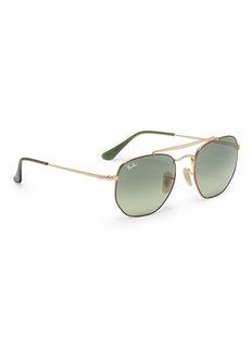 Ray-Ban 'Marshal' tortoiseshell rim metal hexagonal aviator sunglasses