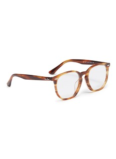Ray-Ban 'RX7151' marble effect acetate square optical glasses