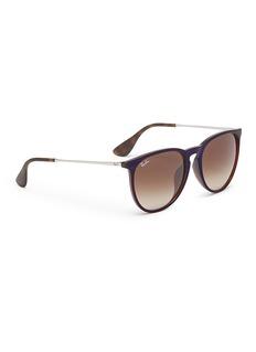 Ray-Ban 'Erika' nylon front metal temple round sunglasses