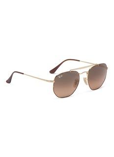 Ray-Ban 'Marshal' double bridge tortoiseshell rim hexagonal aviator sunglasses