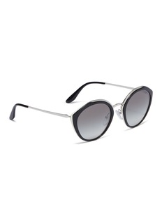 Prada Metal browline colourblock acetate cat eye sunglasses