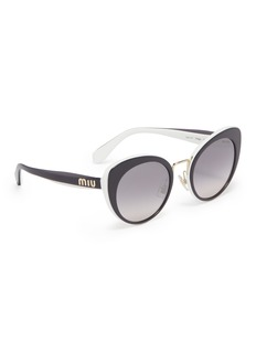 miu miu Colourblock acetate cat eye sunglasses
