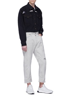 Y/Project Cutout oversized unisex denim shirt