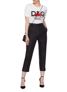 Dolce & Gabbana 'Love' slogan patch logo print T-shirt