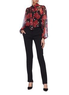 Dolce & Gabbana Bag polka dot print silk chiffon pussybow blouse