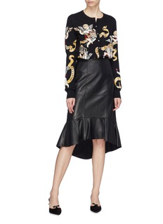 Dolce & Gabbana Angel print virgin wool silk cardigan