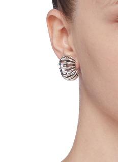 Philippe Audibert 'Del' curved openwork clip earrings
