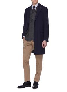 Lardini Wool blend jacquard coat