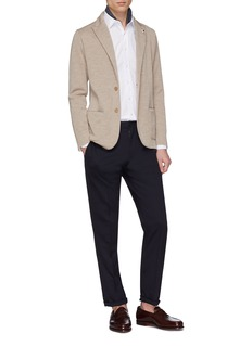 Lardini Wool knit soft blazer