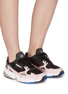Adidas 'Falcon' suede panel mesh sneakers