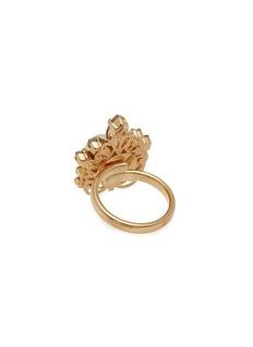 Anton Heunis Swarovski crystal pearl cluster ring