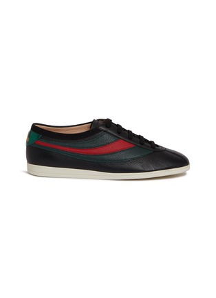 f74697a7e Main View - Click To Enlarge - GUCCI - 'Falacer' Web stripe leather sneakers