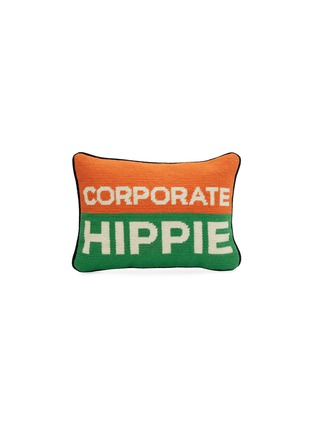Main View - Click To Enlarge - JONATHAN ADLER - Corporate Hippie needlepoint cushion