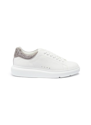 Main View - Click To Enlarge - PEDDER RED - 'Louie' strass collar leather platform sneakers