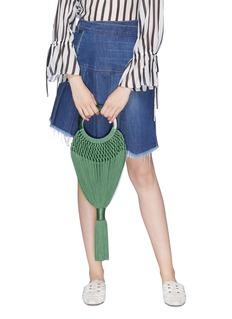 Cult Gaia 'Angelou' small knot braided tassel bag