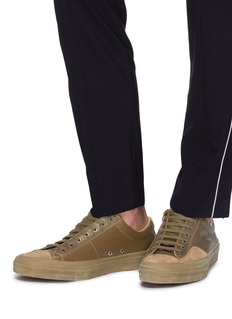 Dries Van Noten Suede trim leather sneakers