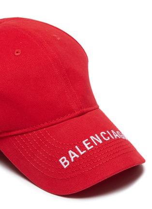 Detail View - Click To Enlarge - BALENCIAGA - 'Everyday' logo embroidered visor baseball cap