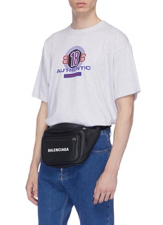 Balenciaga 'Everyday' logo print leather bum bag